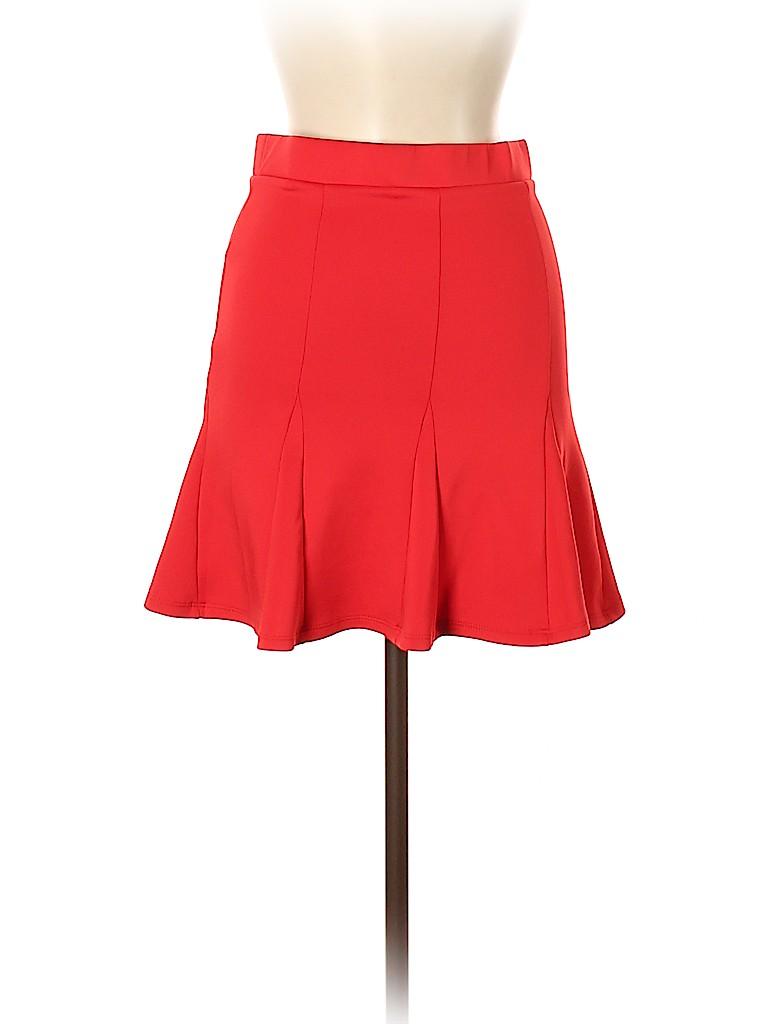 Doublju Women Casual Skirt Size M