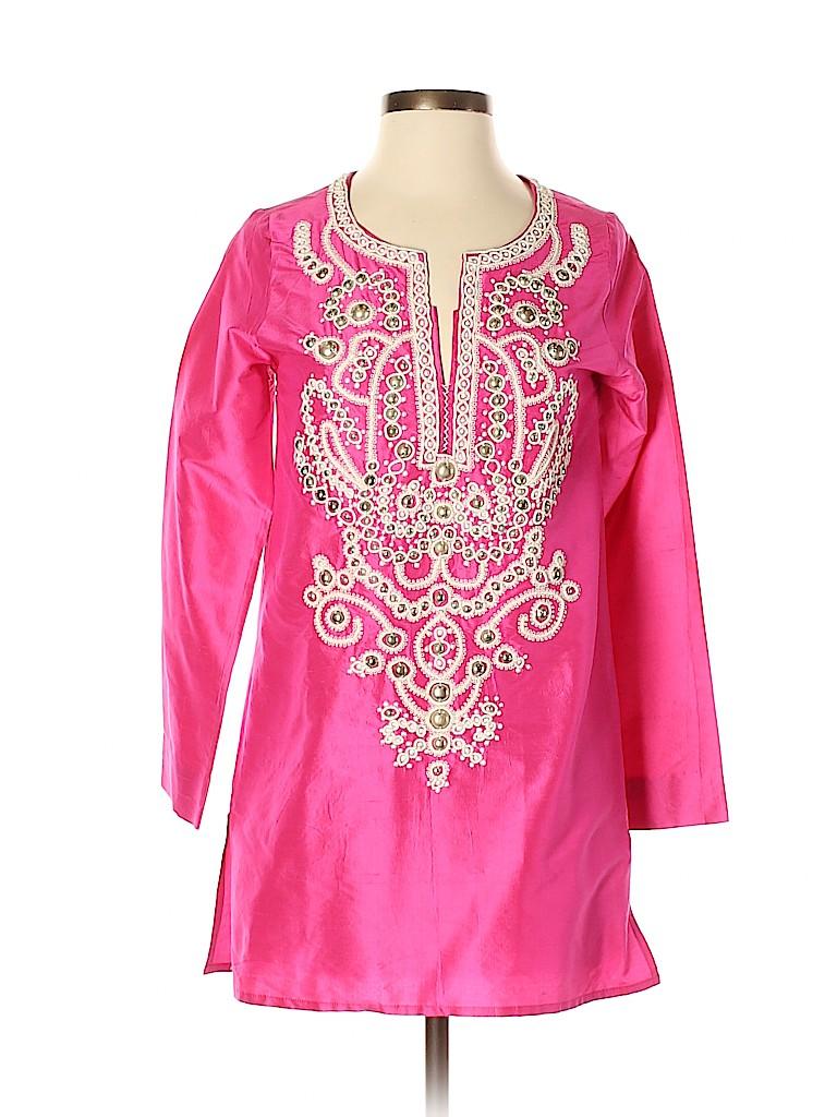 Sachin + Babi for Ankasa Women Long Sleeve Silk Top Size XS