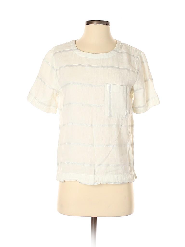 Lou & Grey Women Short Sleeve Blouse Size S