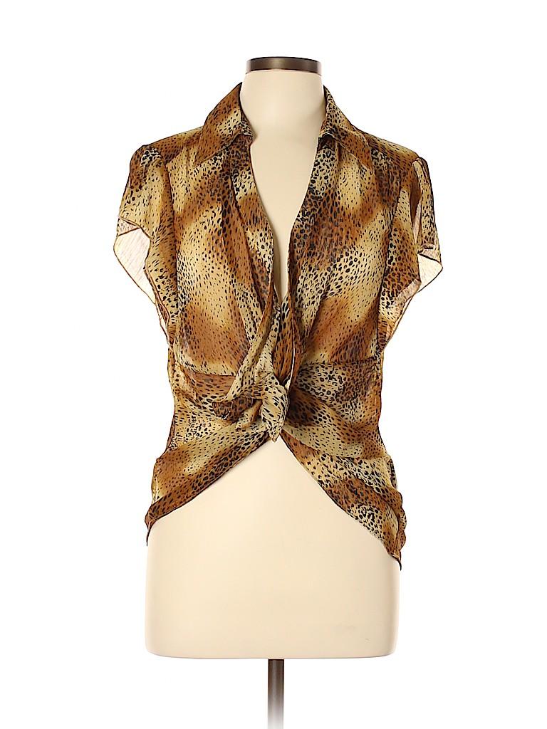 Essentials Women Short Sleeve Blouse Size XL