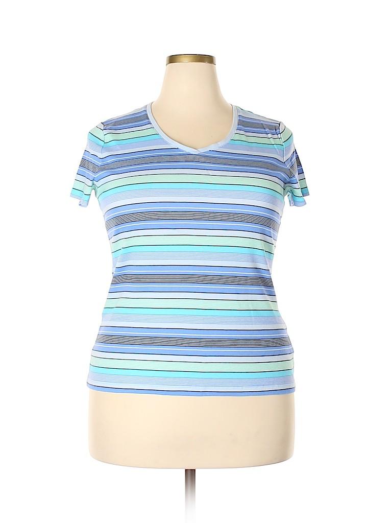 Croft & Barrow Women Short Sleeve T-Shirt Size XXL