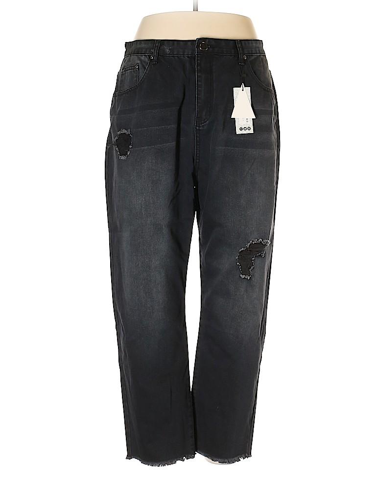 Boo Hoo Women Jeans Size 18 (Plus)