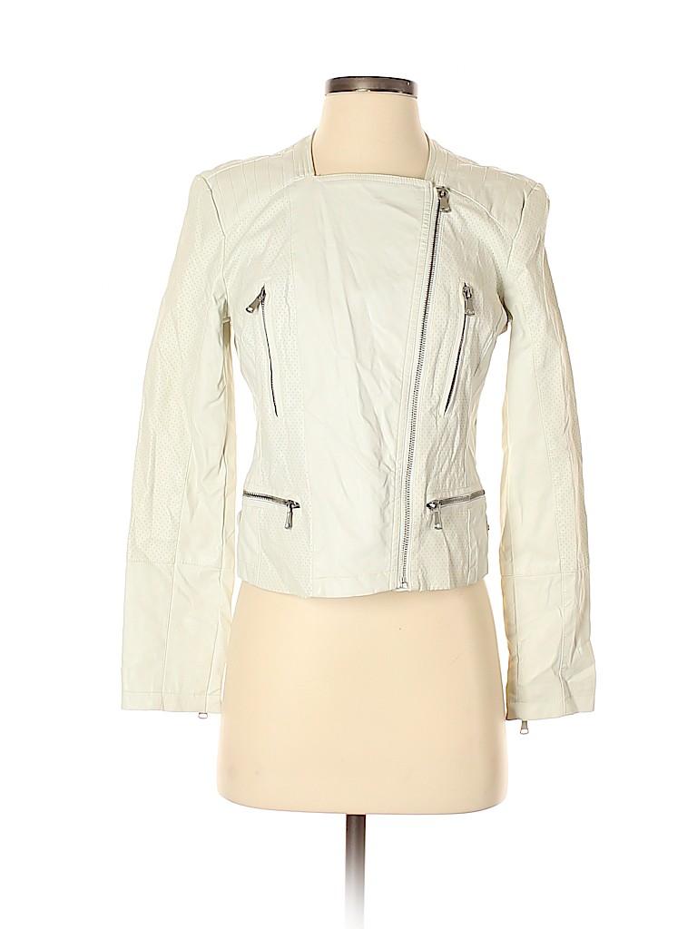 B by Bernardo Women Faux Leather Jacket Size S (Petite)