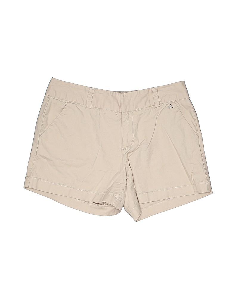Calvin Klein Women Khaki Shorts Size 4
