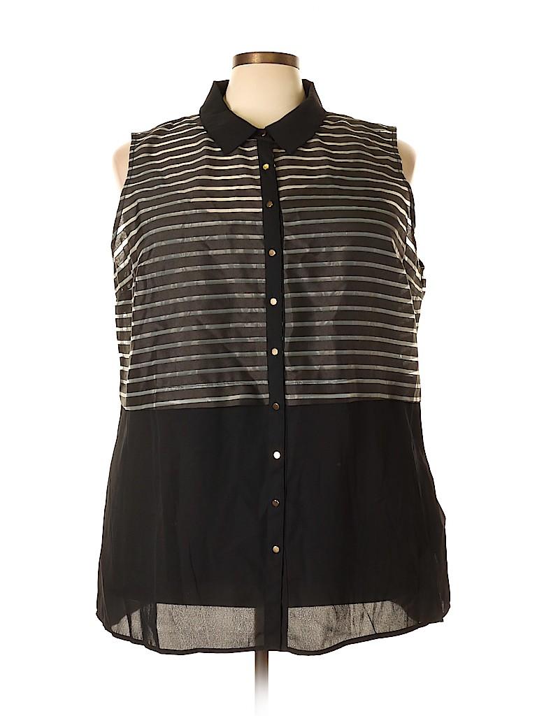 City Chic Women Sleeveless Blouse Size 24 Plus (XXL) (Plus)
