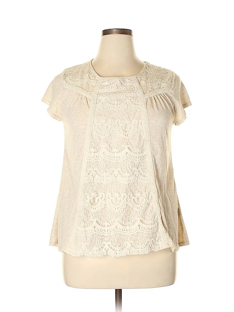 Rewind Women Short Sleeve Top Size XL