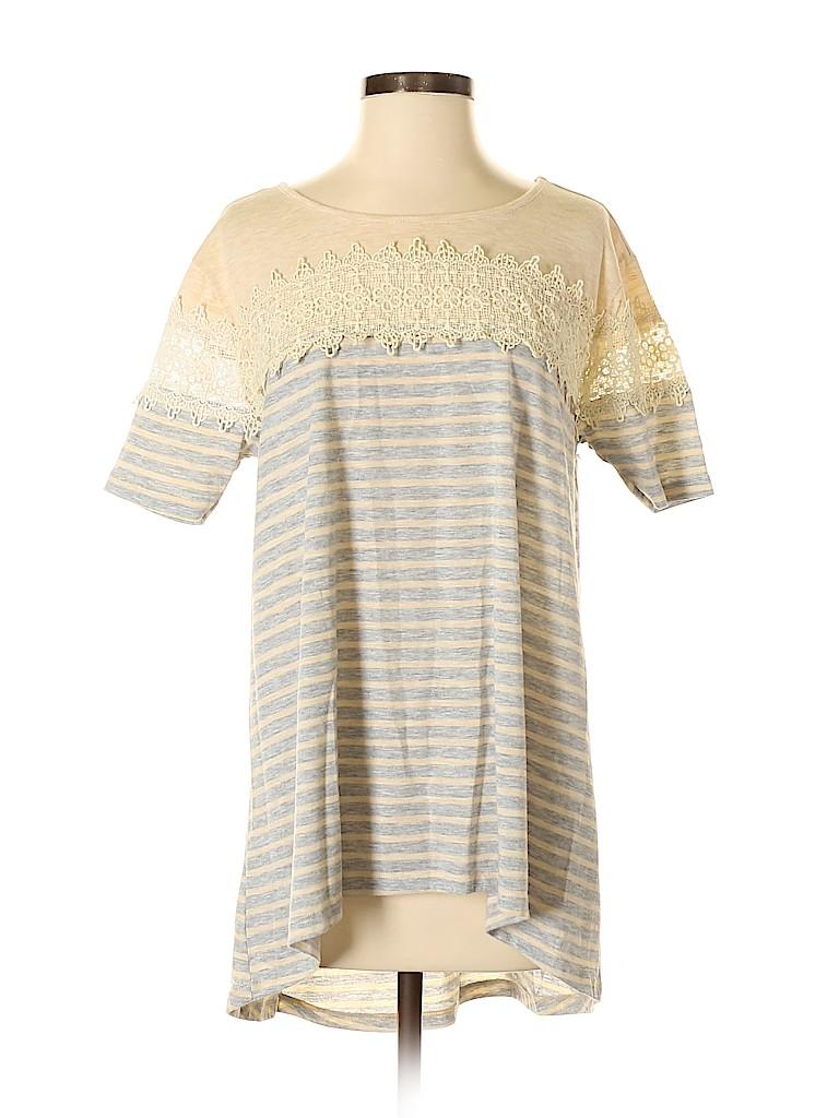 Soieblu Women Short Sleeve Top Size S