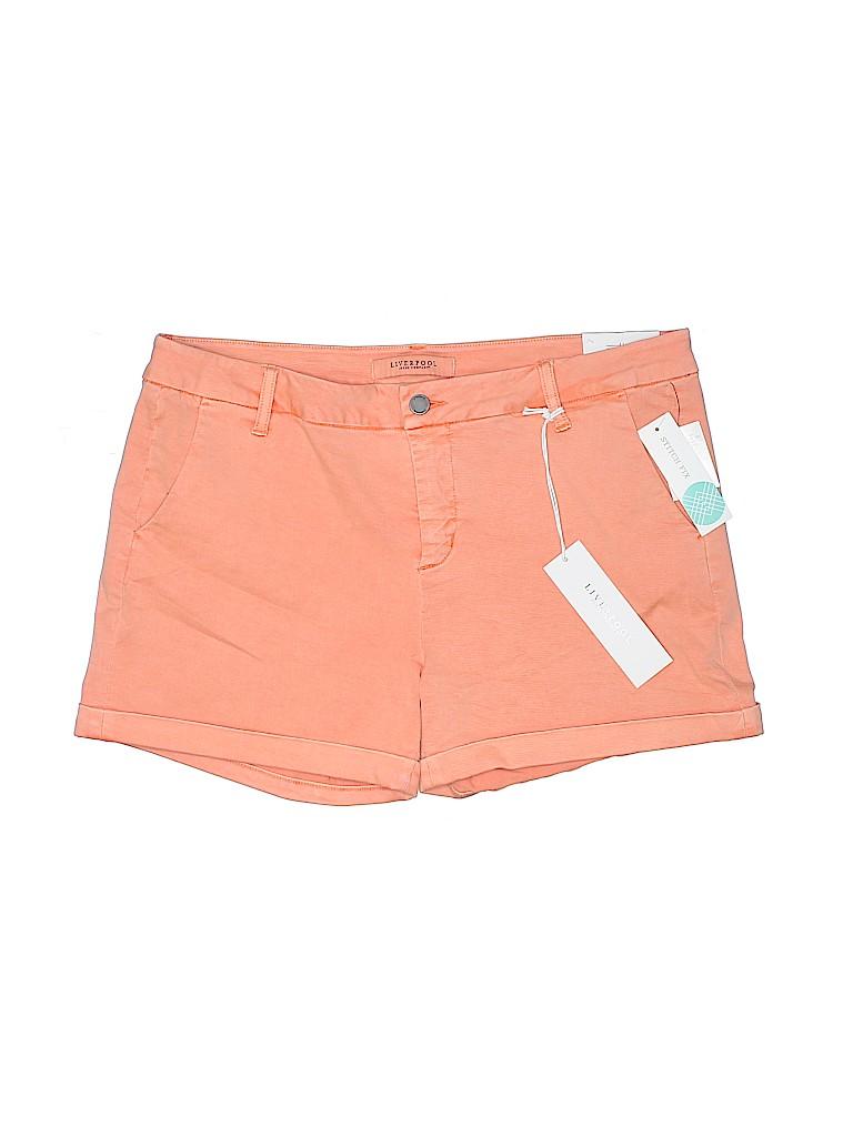 Liverpool Jeans Company Women Khaki Shorts Size 14