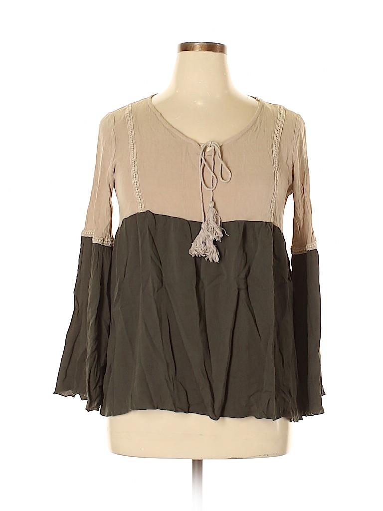 Orange Creek Women Long Sleeve Blouse Size L
