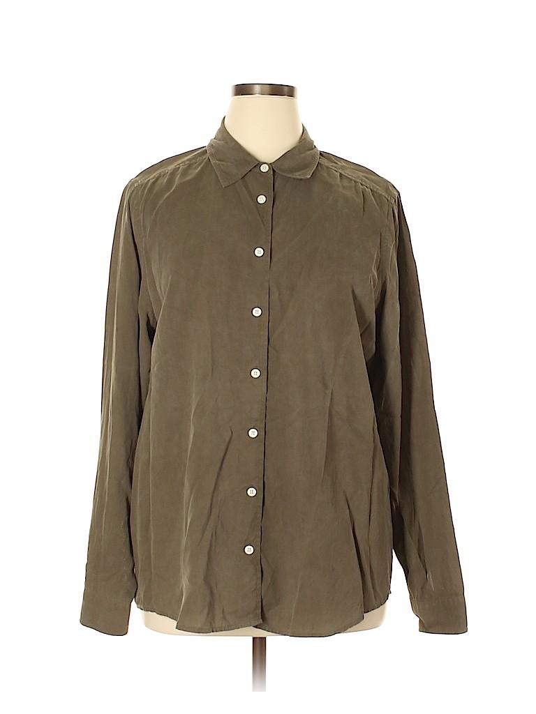 Orvis Women Long Sleeve Silk Top Size XL