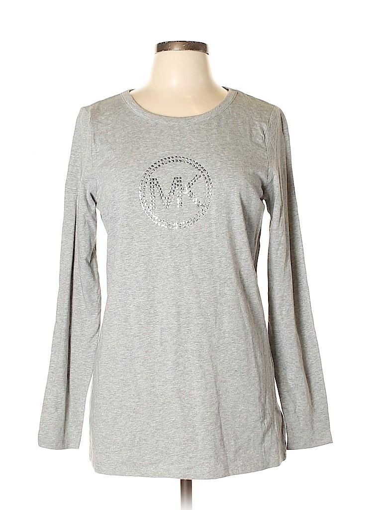 MICHAEL Michael Kors Women Long Sleeve T-Shirt Size L
