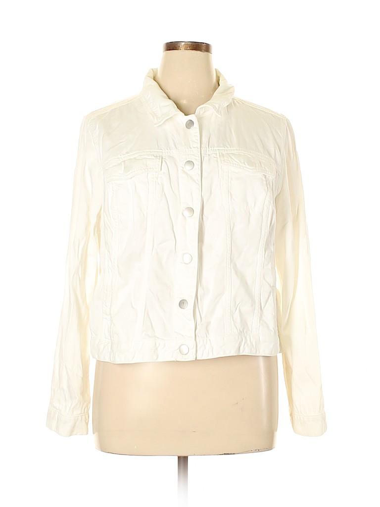 Lane Bryant Women Denim Jacket Size 20 (Plus)
