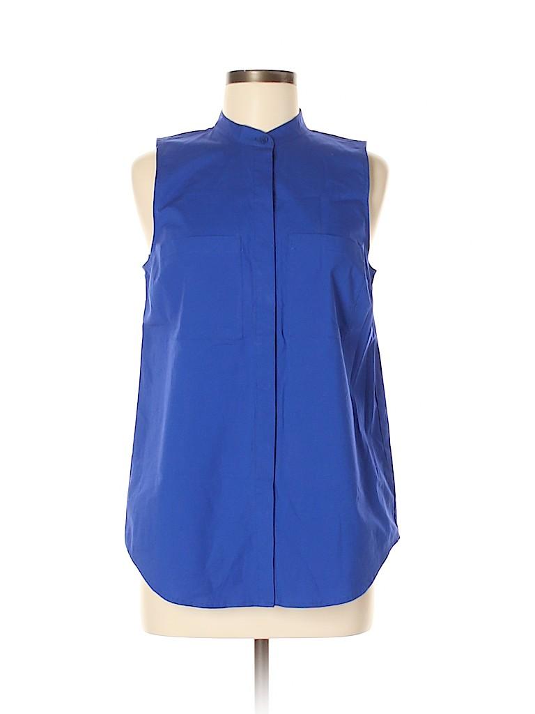 MICHAEL Michael Kors Women Sleeveless Button-Down Shirt Size M (Petite)