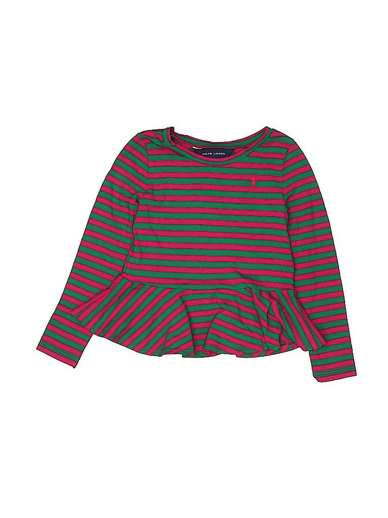 Ralph Lauren Girls Long Sleeve Top Size 4