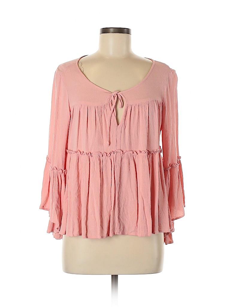 My Story Women 3/4 Sleeve Blouse Size L