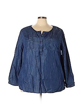9bb8044c093 Lane Bryant Long Sleeve Button-Down Shirt Size 22 - 24 Plus (Plus)