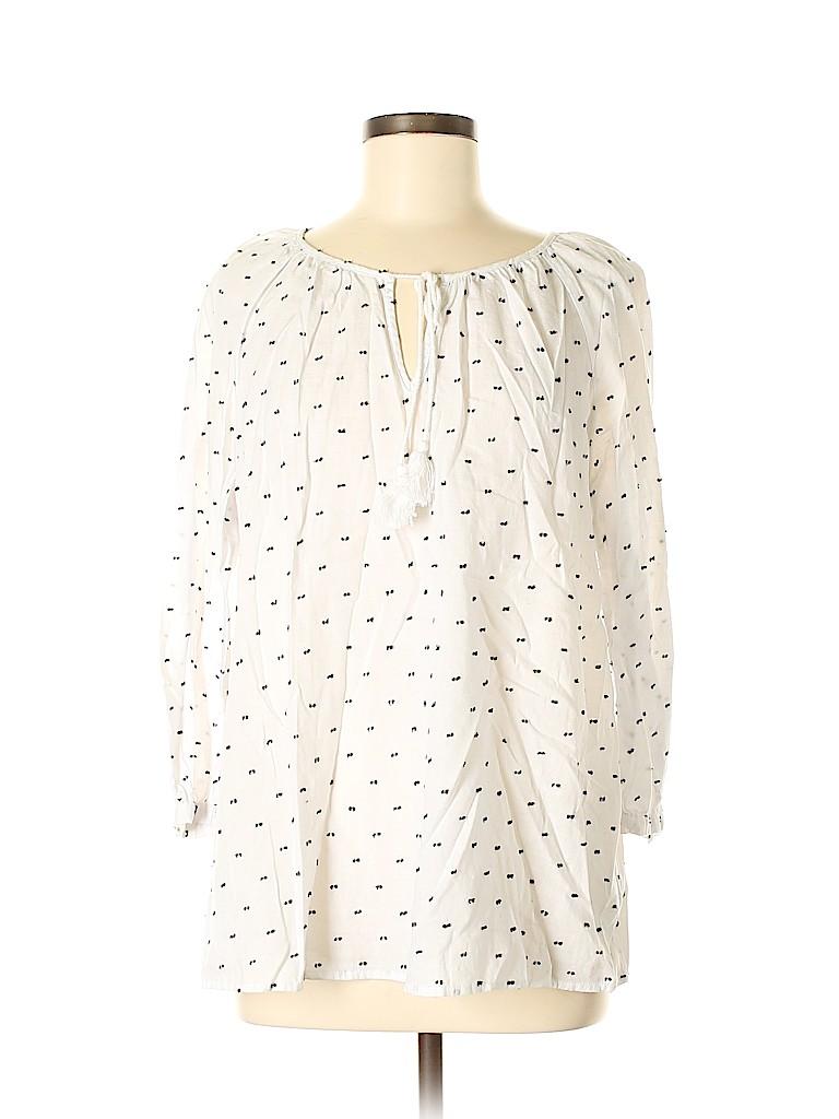 Merona Women 3/4 Sleeve Blouse Size M