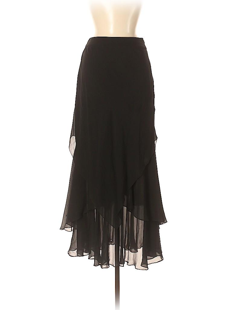 Carmen Marc Valvo Women Silk Skirt Size 8