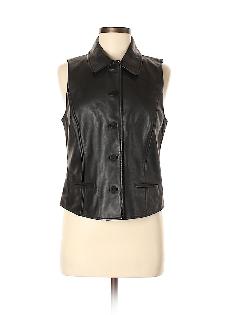 Ann Taylor Women Leather Jacket Size M