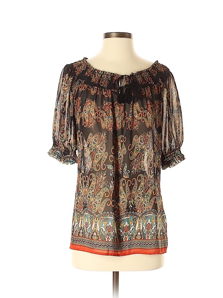 Rose & Olive Women Short Sleeve Blouse Size S