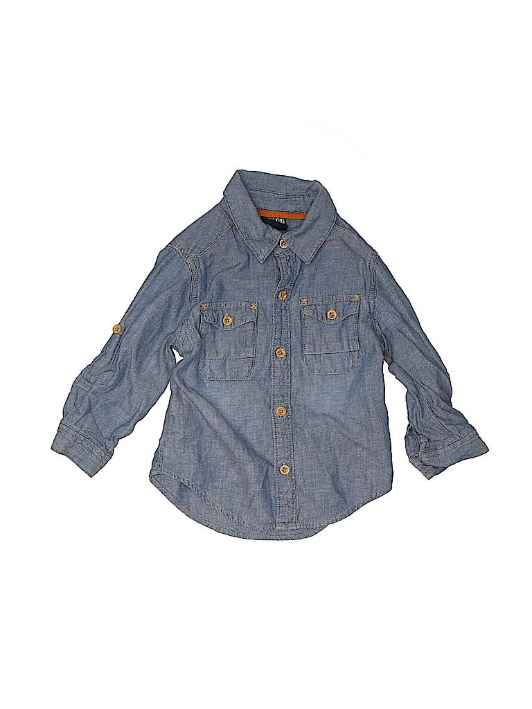 Genuine Kids from Oshkosh Boys Long Sleeve Button-Down Shirt Size 2T