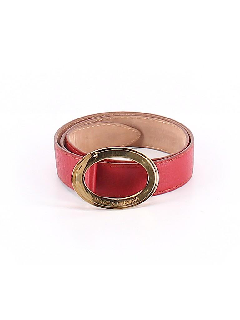 Dolce & Gabbana Women Leather Belt Size XS
