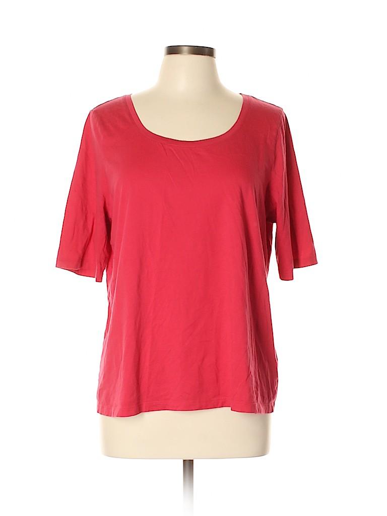 Lands' End Women 3/4 Sleeve T-Shirt Size XL