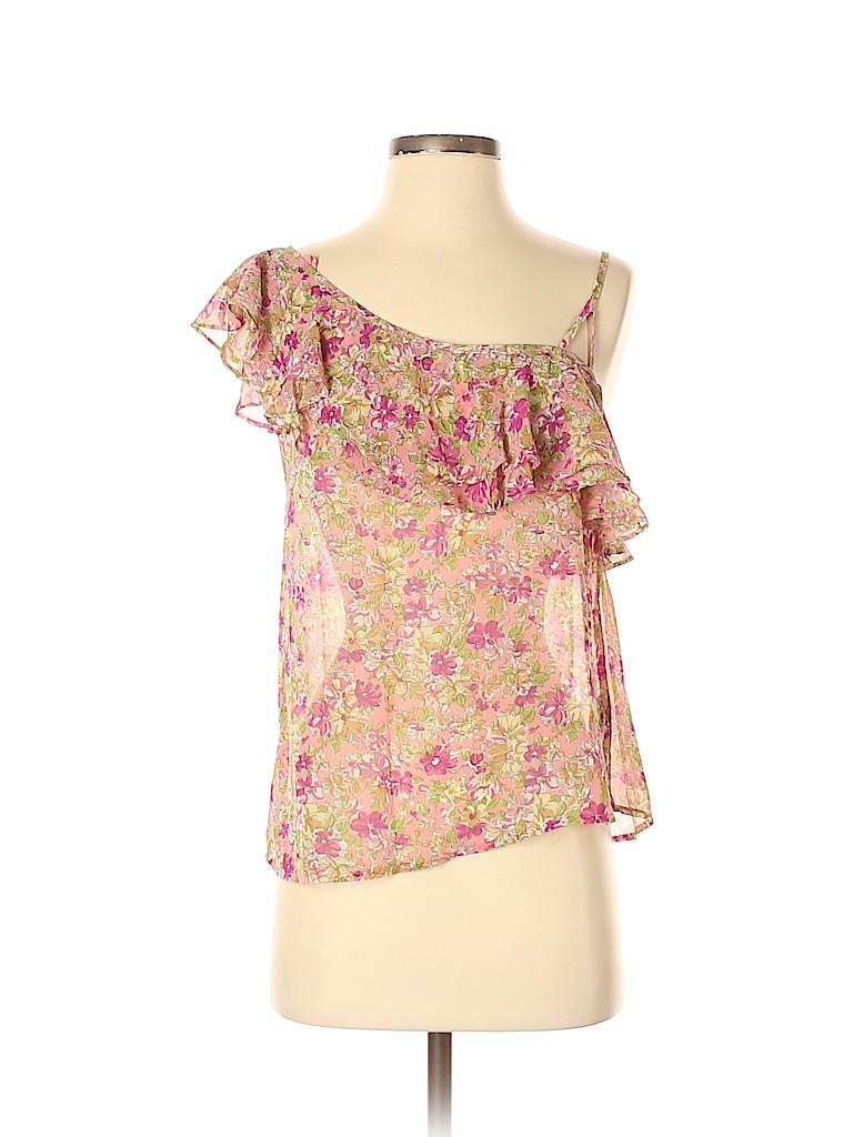 Patterson J. Kincaid Women Short Sleeve Blouse Size S