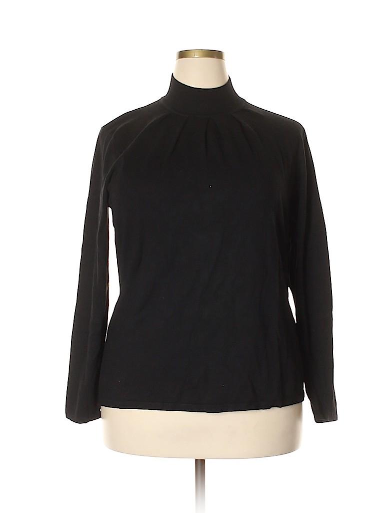 Investments II Women Turtleneck Sweater Size 2X (Plus)