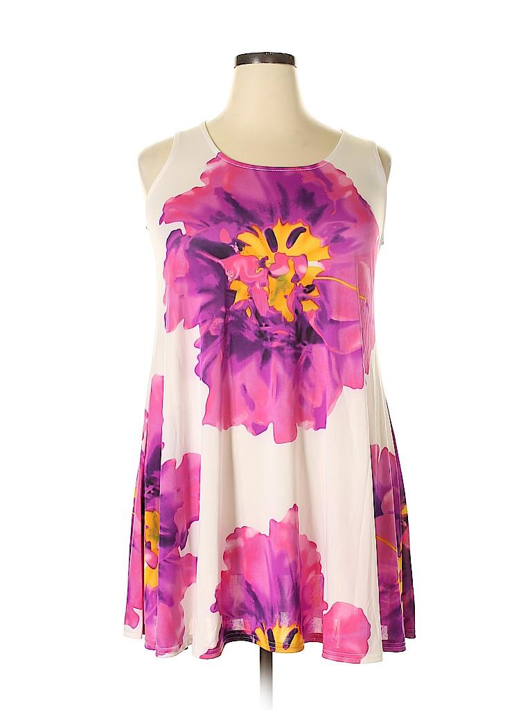 Shoreline Women Casual Dress Size 1X (Plus)