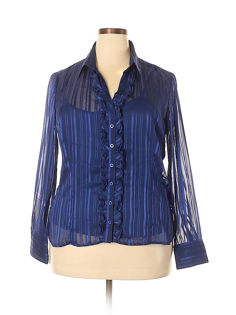 George Women Long Sleeve Blouse Size XL