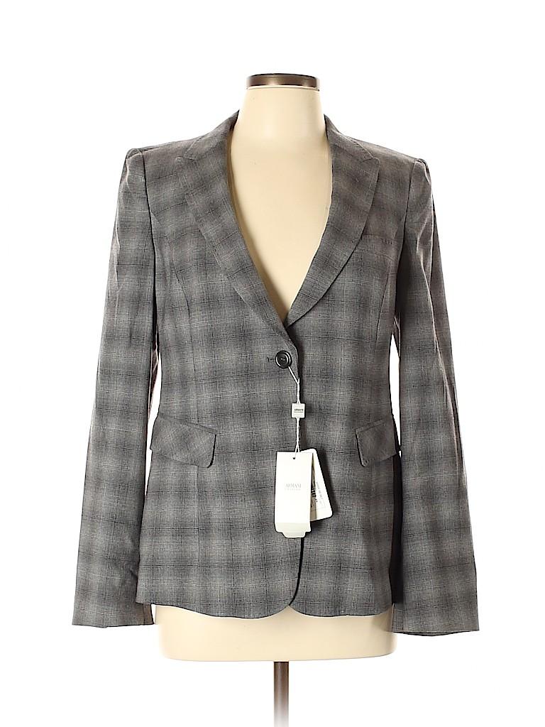 Armani Collezioni Women Wool Blazer Size 10