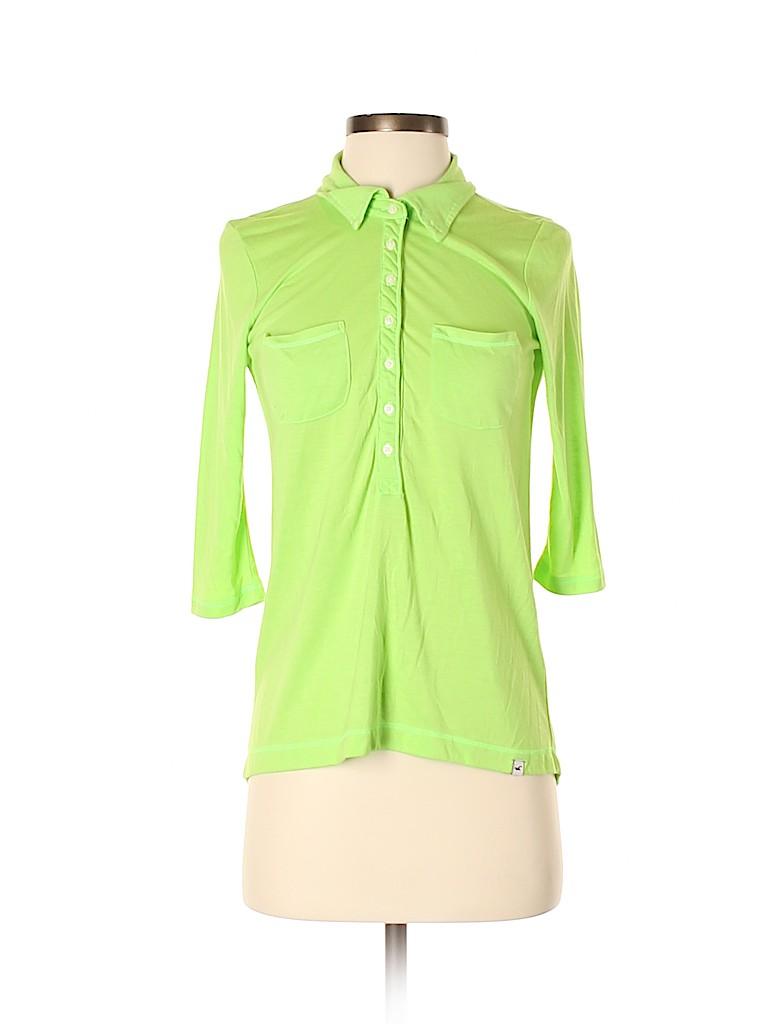 Hollister Women 3/4 Sleeve Polo Size S