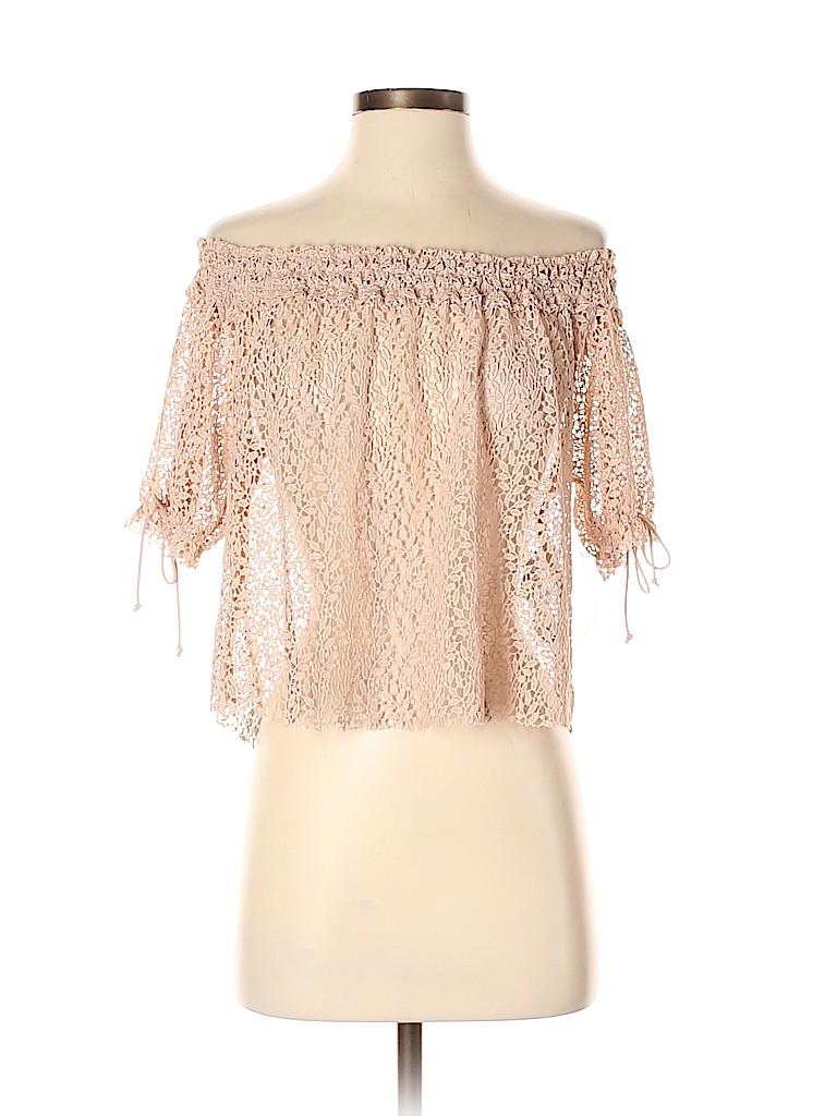 Zara Basic Women Short Sleeve Top Size S