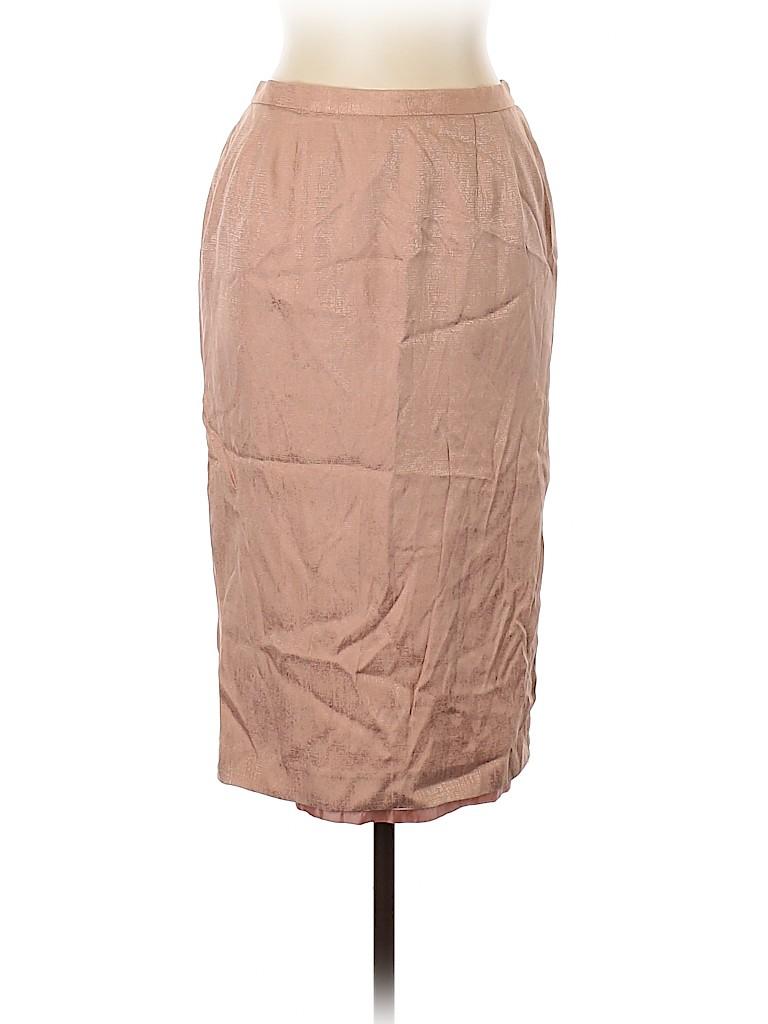 Adrianna Papell Women Silk Skirt Size 14