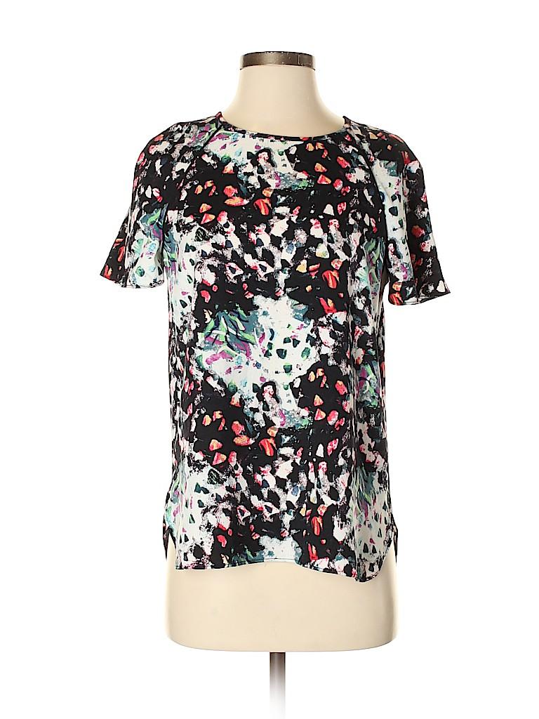 Cooper & Ella Women Short Sleeve Blouse Size S