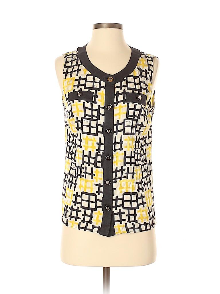 An original MILLY of New York Women Sleeveless Silk Top Size 4