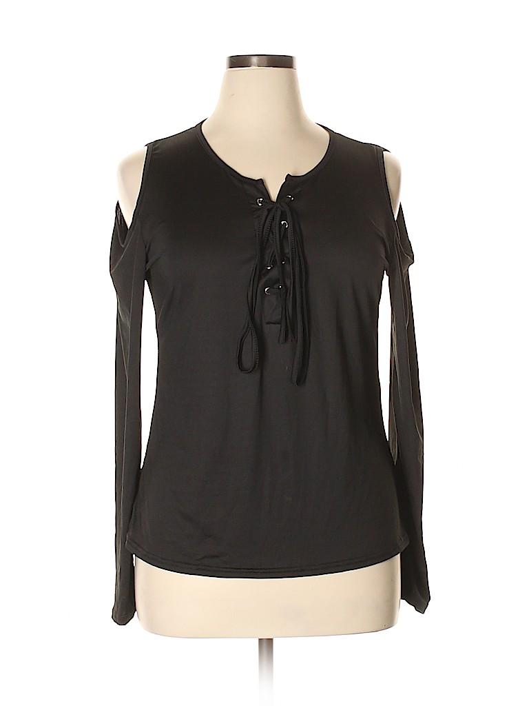 Unbranded Women Long Sleeve Top Size 5X (Plus)