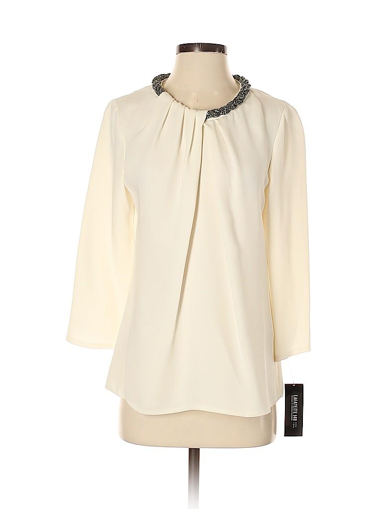 Lafayette 148 New York Women 3/4 Sleeve Silk Top Size 6