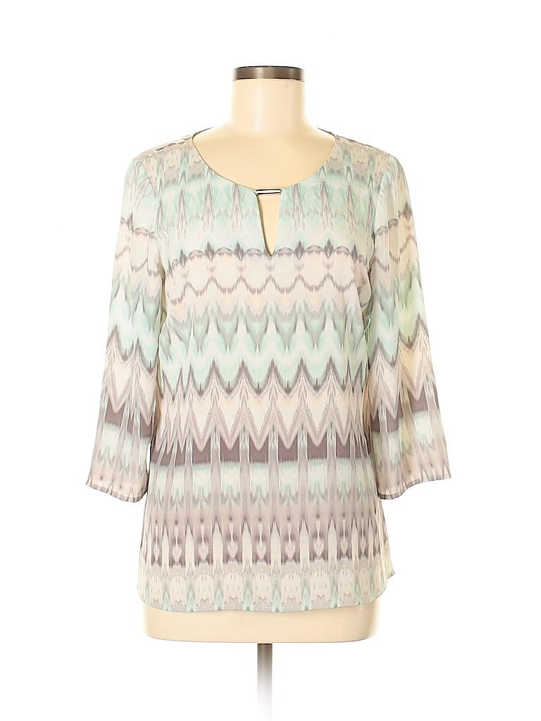 Preston & York Women 3/4 Sleeve Blouse Size S