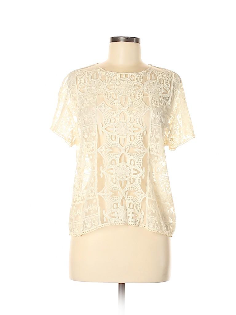 Aqua Women Short Sleeve Blouse Size M