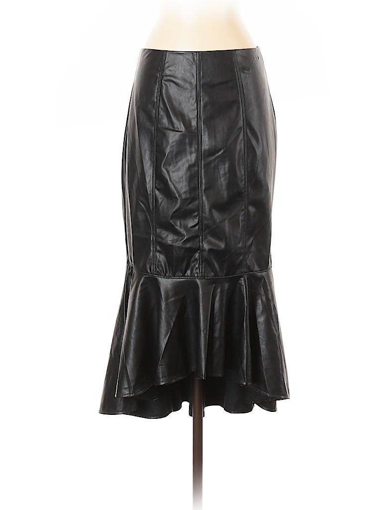 7th Avenue Design Studio New York & Company Women Faux Leather Skirt Size 4