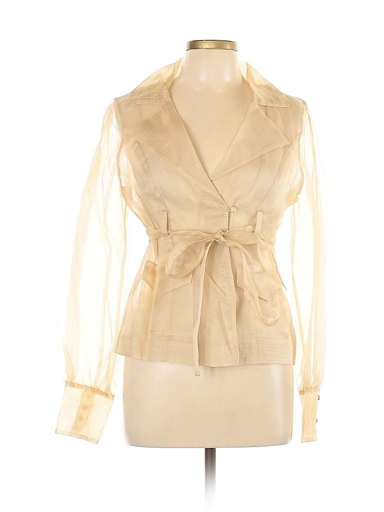 Arden B. Women Long Sleeve Silk Top Size L