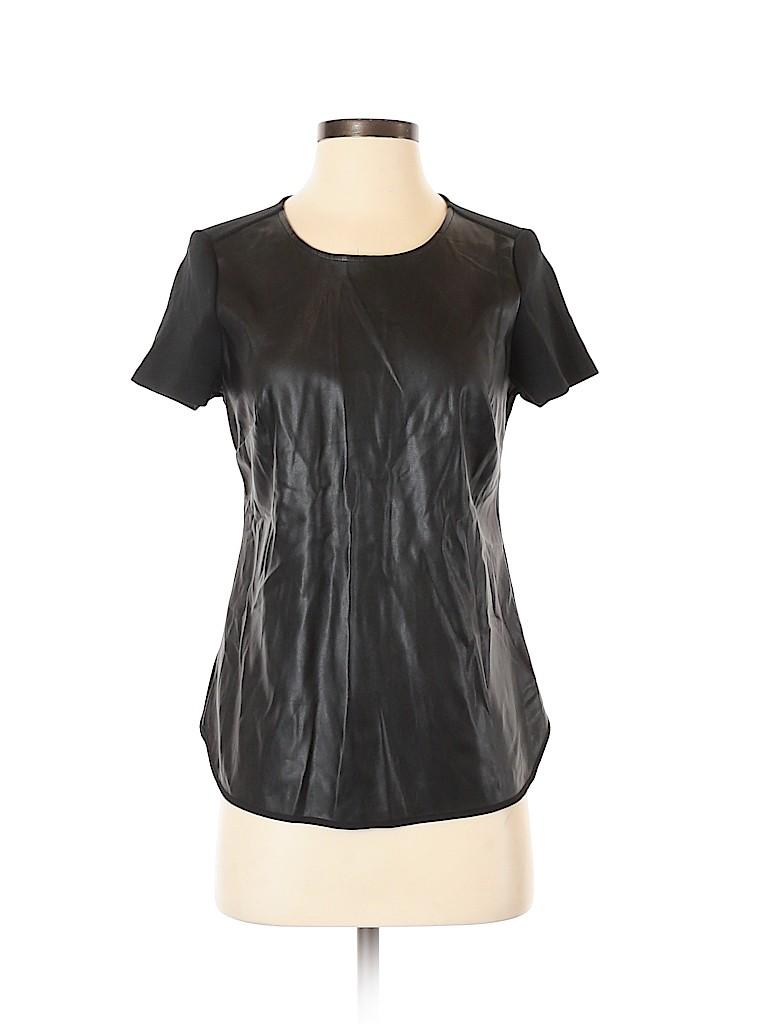 Ann Taylor Women Faux Leather Top Size XS