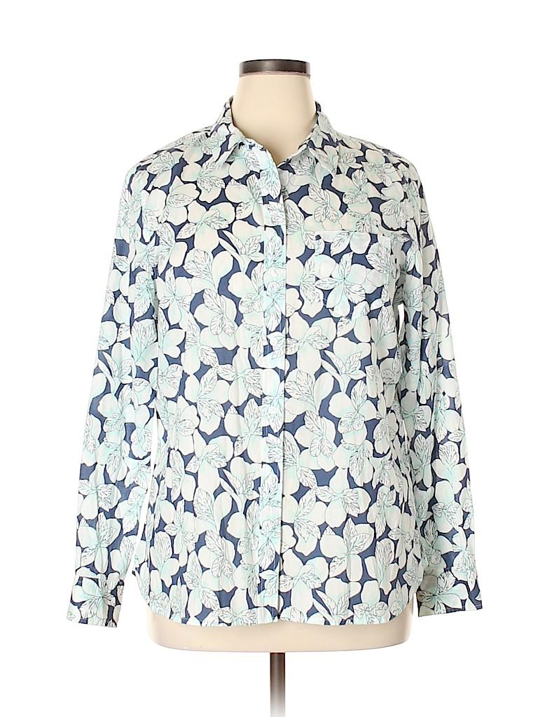 Gap Outlet Women Long Sleeve Button-Down Shirt Size XL