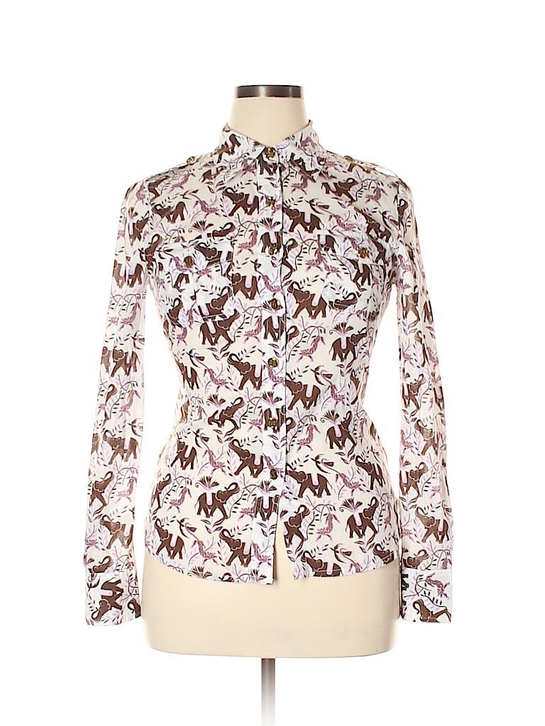 Tory Burch Women Long Sleeve Button-Down Shirt Size 10