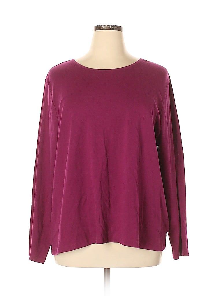Croft & Barrow Women Long Sleeve T-Shirt Size 3X (Plus)