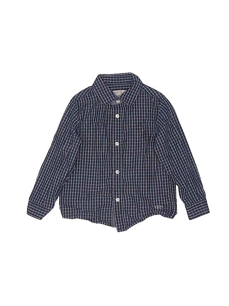 Zara Boys Long Sleeve Button-Down Shirt Size 4