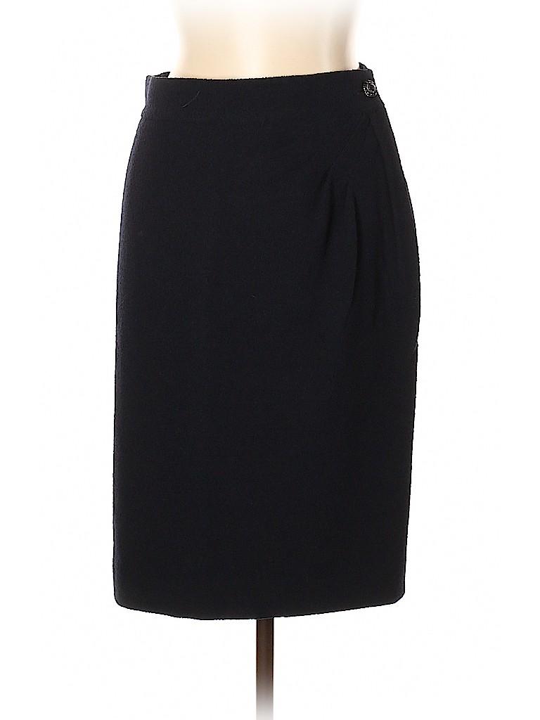 Chanel Women Wool Skirt Size 44 (FR)
