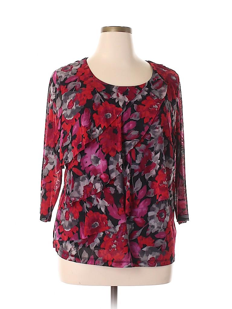 Croft & Barrow Women 3/4 Sleeve Top Size 2X (Plus)